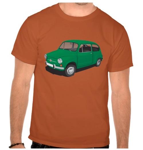 Green Fiat 600 t-shirt