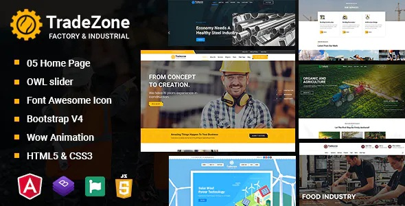 Best Industry One Page Angular Template