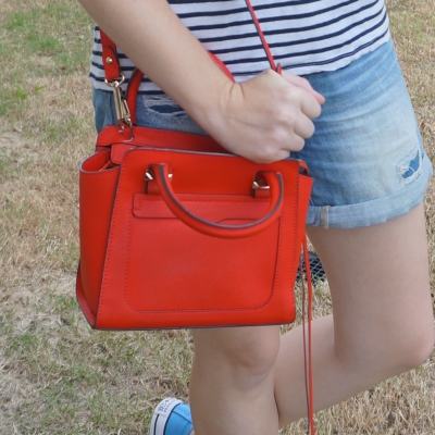Rebecca Minkoff red micro Avery cross body bag   away from the blue