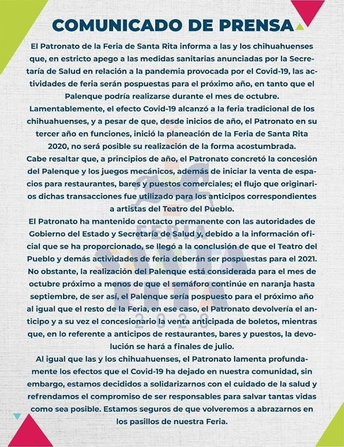 Feria Santa Rita Chihuahua 2020