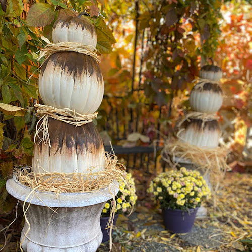 Easy Rust Activated Abstract Pumpkin Topiaries