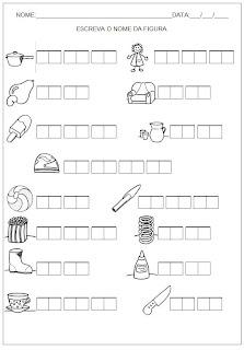 Hipótese de Escrita Silábica Alfabética - Escreva o nome da figura 7