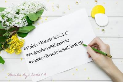 Listado hashtags boda