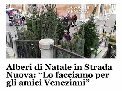 Gli alberi di Natale a San Felice nel mio articolo per ''La Voce di Venezia''