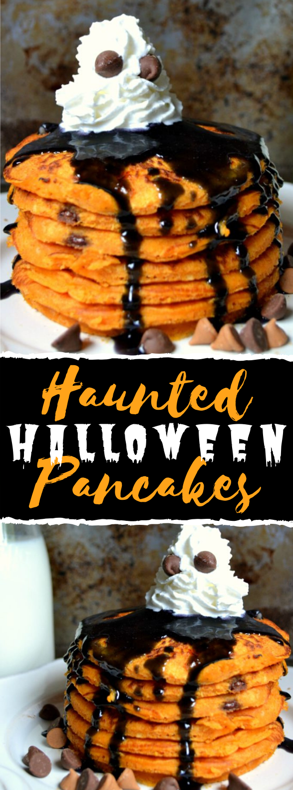 HAUNTED HALLOWEEN PANCAKES #desserts #breakfast