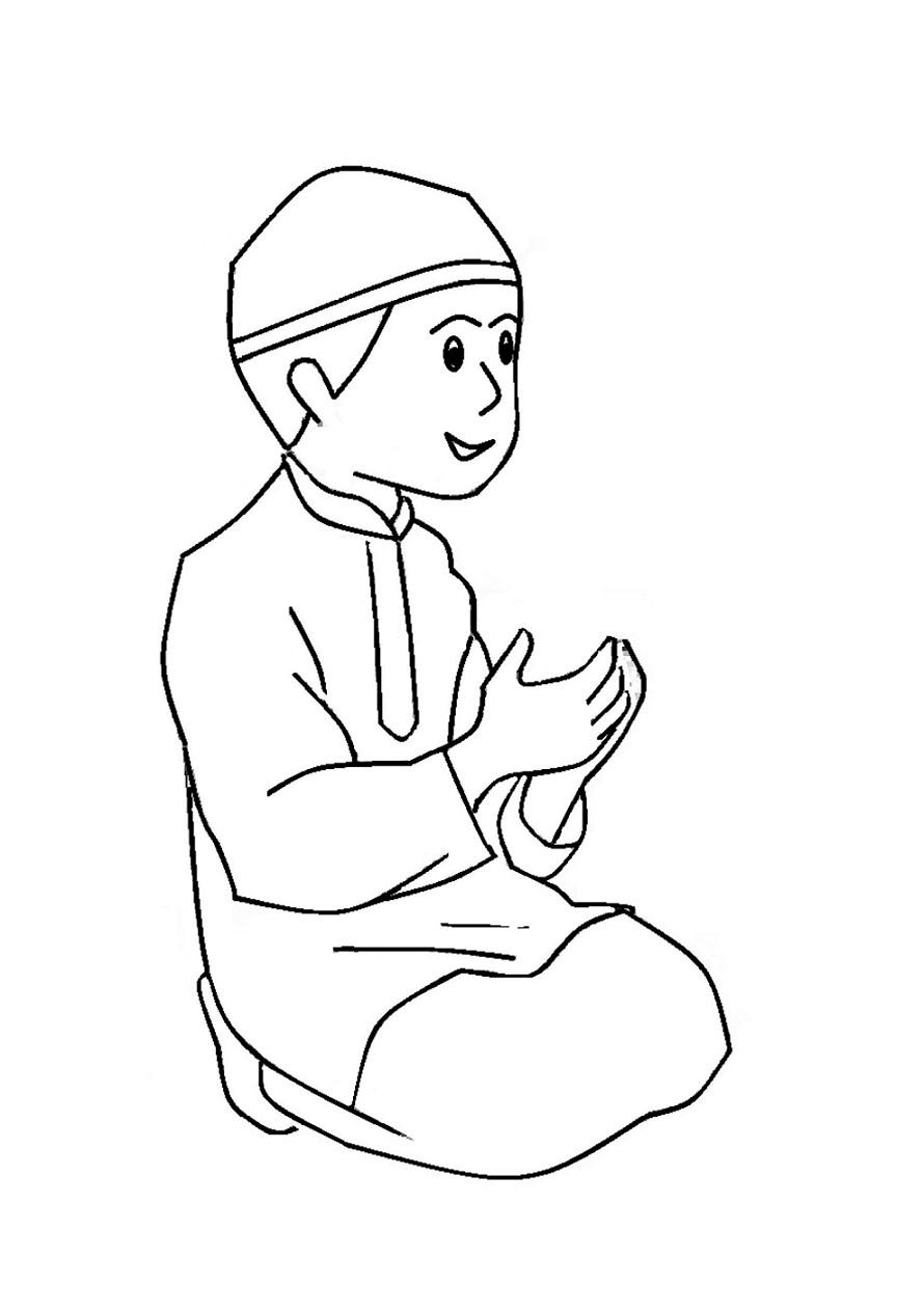 Gambar Anak Sholeh : gambar, sholeh, Gambar, Mewarnai, Sholeh, Pintar, Gambarcoloring