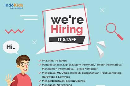 Info Lowongan Kerja IT Staff Indo Kids Jakarta