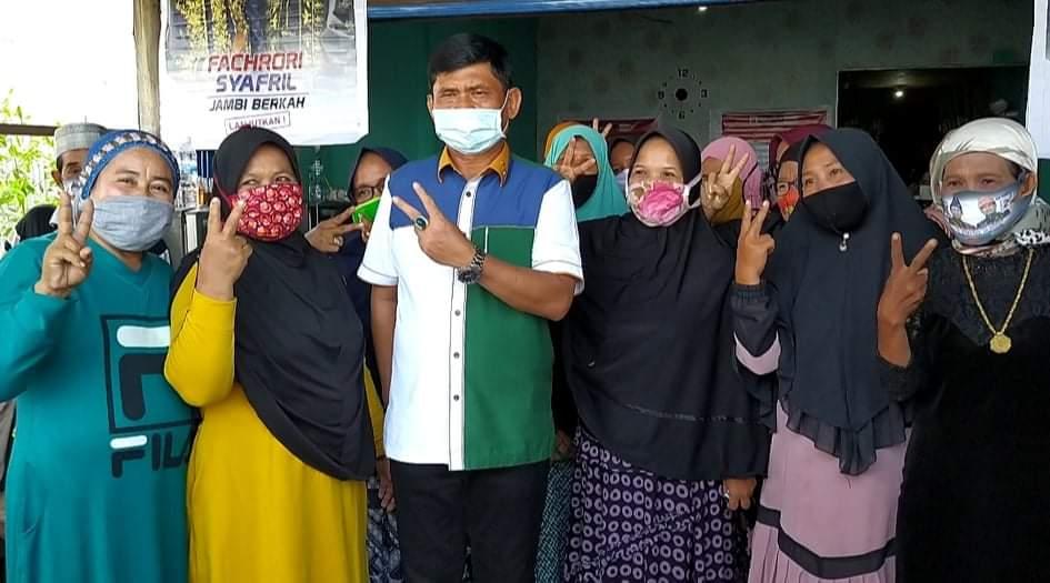Kunjungan ke Kuala Jambi, Fachrori-Safril Banjir Dukungan