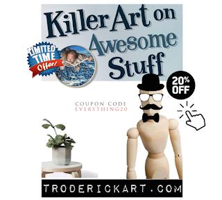 coupon code everything20 promo troderickart.com