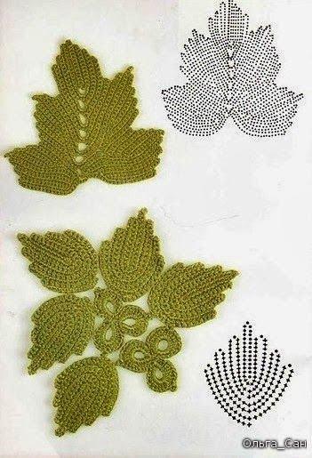 wzory motywow irlandzkiej koronki