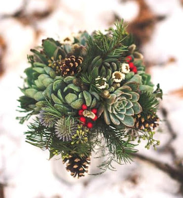 DIY, Succulents, Christmas, crafts, decor, seasonal, holiday crafts, holidays, flowers, holiday flowers, holiday bouquet, succulent bouquet