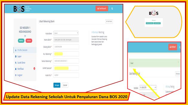 Update Data Rekening Sekolah Untuk Penyaluran Dana BOS 2020