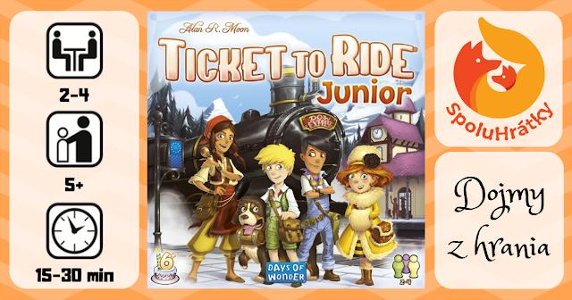 Recenzia detskej hry Ticket To Ride Junior na blogu www.spoluhratky.eu