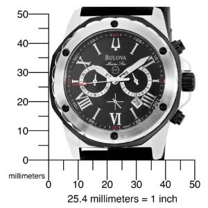 f188b1e29 Men's Watches, Deals, and Customer Reviews: Amazon.com: Bulova Men's 98B127  Marine Star Black Dial Strap Watch: Bulova: Watches