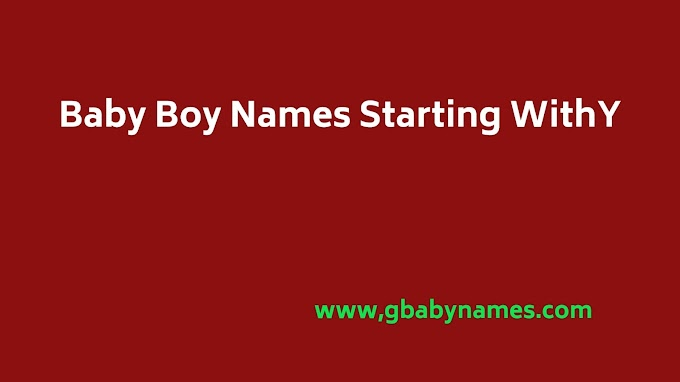 Boy Names Starting With Y