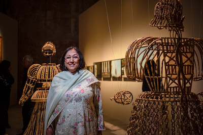 Mrs Kiran Nadar at India Pavilion, Venice Biennale