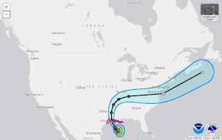 NOAA Laura Storm track