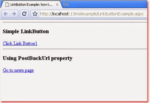 ASP NET LinkButton Example