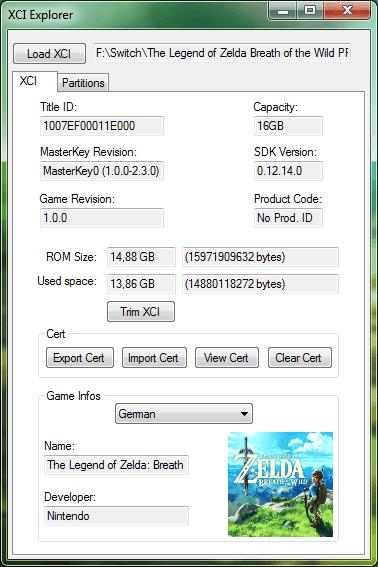 XCI Explorer v1 4 8 available