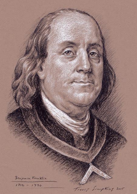 Benjamin Franklin. Past Grand Master. Grand Lodge of Pennsylvania. by Travis Simpkins