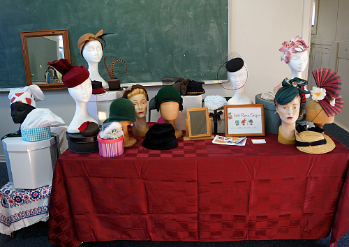 Tanith Rowan Designs millinery stall at Mudgee Makers Market NSW