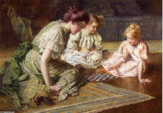 https://en.wikipedia.org/wiki/Francis_Coates_Jones#/media/File:Francis_Coates_Jones_-_Mother_and_daughters_playing_chess.jpg