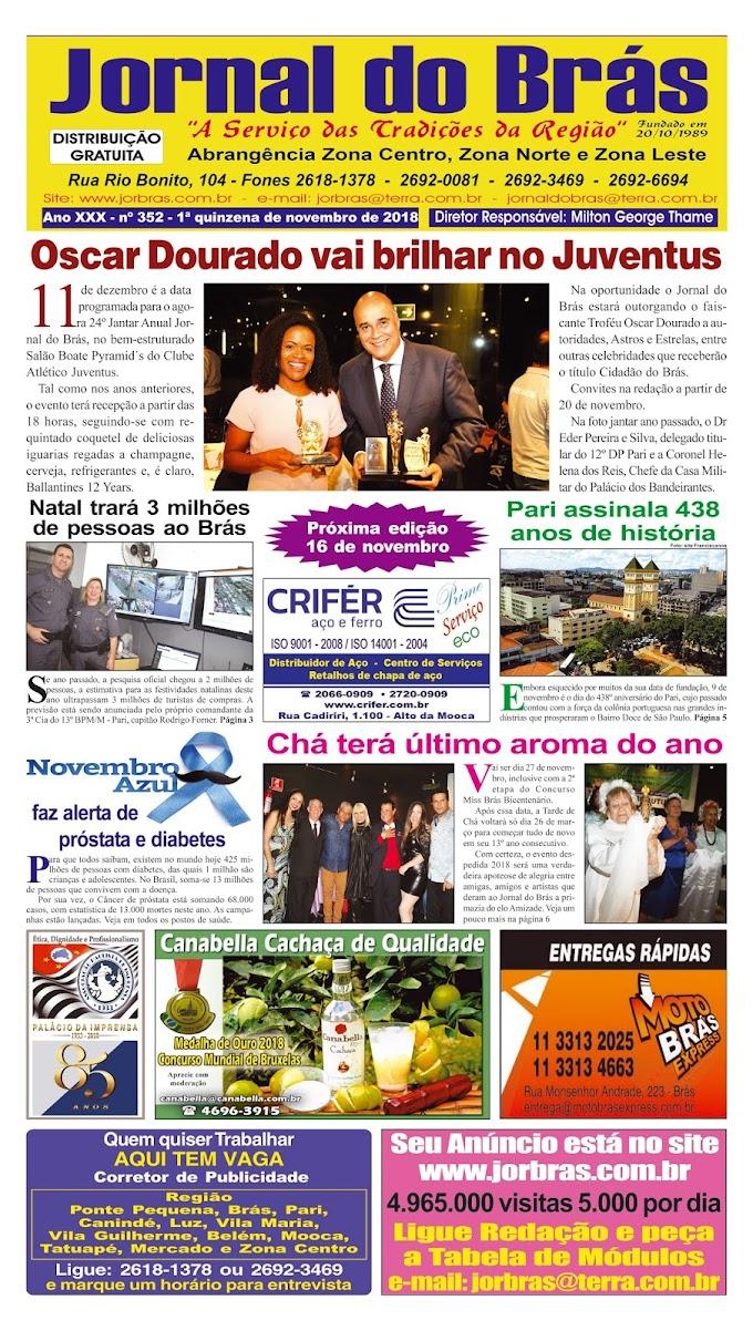 Destaques da Ed. 352 - Jornal do Brás