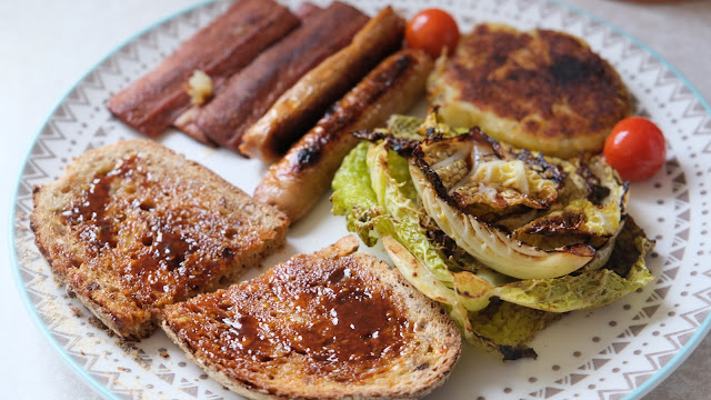 Vegan breakfast on a plate