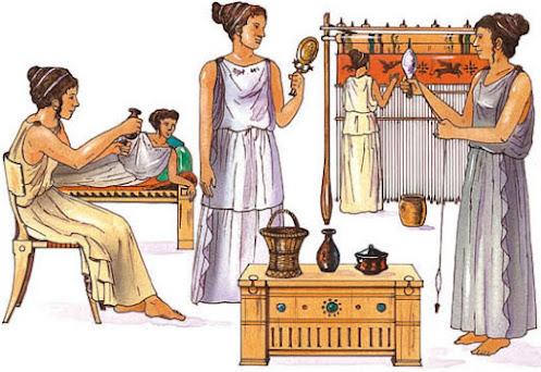 Las mujeres en la cultura griega, en la antigüedad