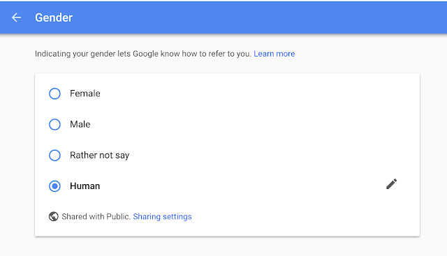 Google ad settings profile gender update screen