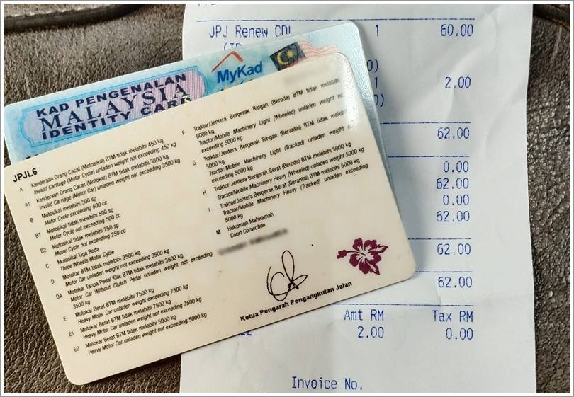 Renew Lesen Memandu Di Pejabat Pos Malaysia