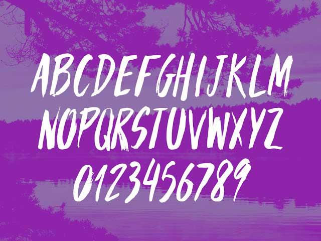 Parabola free font glyphs