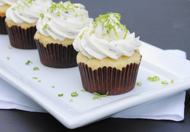 Margarita Cupcakes with Margarita Buttercream Frosting