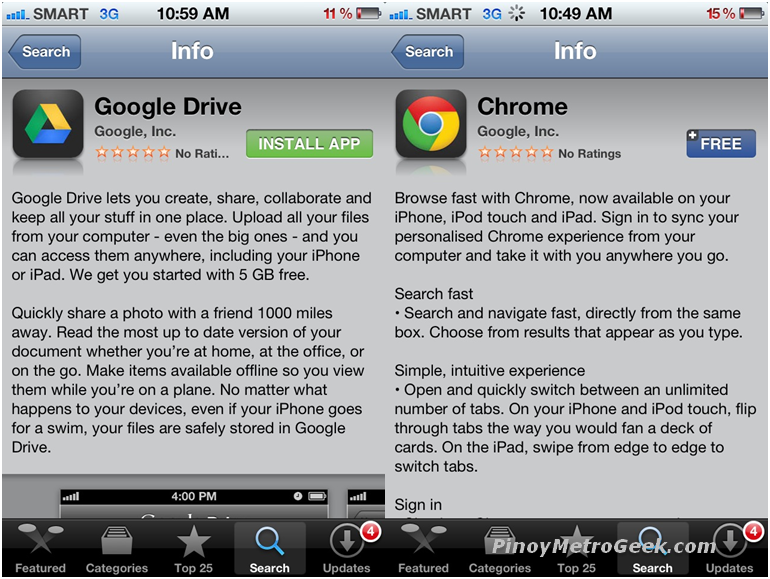 Google releases Chrome and Drive for iOS today | Pinoy Metro