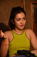 Actress Catherine Tresa Pos during Self Dubbing for Gautham Nanda Movie  0075.JPG