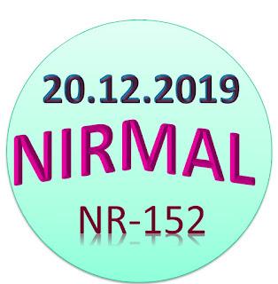 Kerala Lottery Official Result Nirmal NR-152  20.12.2019