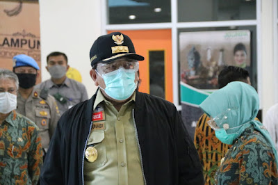 Gubernur Lampung Kembali Cek Kesiapsiagaan Bandara Raden Intan II Antisipasi Penyebaran Covid-19