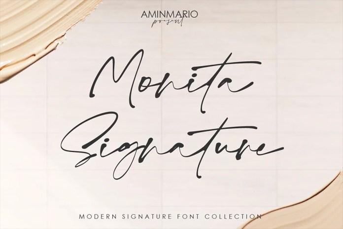 Monita Signature Font