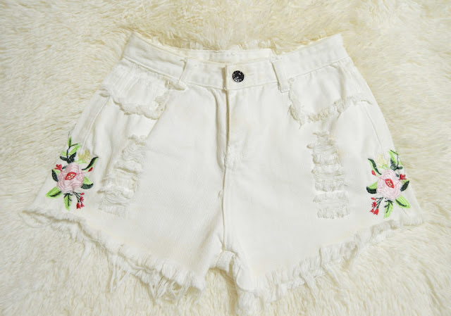 Zaful Embroidered Shorts Seize your Style