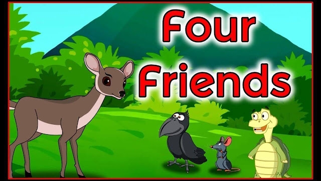 Four Friends English Moral Story