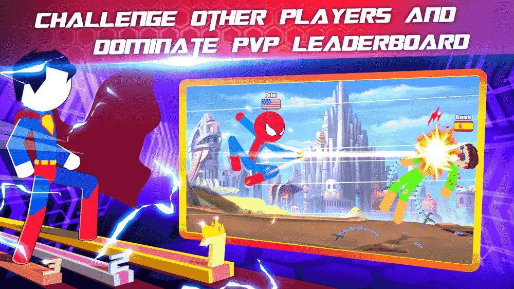 Super Stickman Heroes Fight v2.5 MOD, Unlimited Coins/Heros - Game đối kháng cho điện thoại