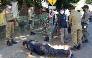 Operasi Yustisi Dan Penyemprotan Desinfektan Di Masjid dan Musholah Jelang Hari Raya Idul Fitri