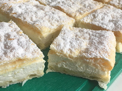 Ciasto francuskie z kremem