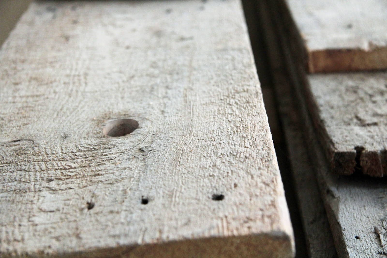 In the Fields : Planing Old Salvage Boards