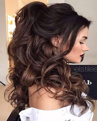 peinado super elegante suelto para fiesta de gala