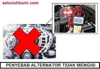 penyebab alternator tidak mengisi