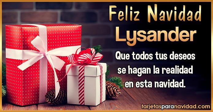 Feliz Navidad Lysander
