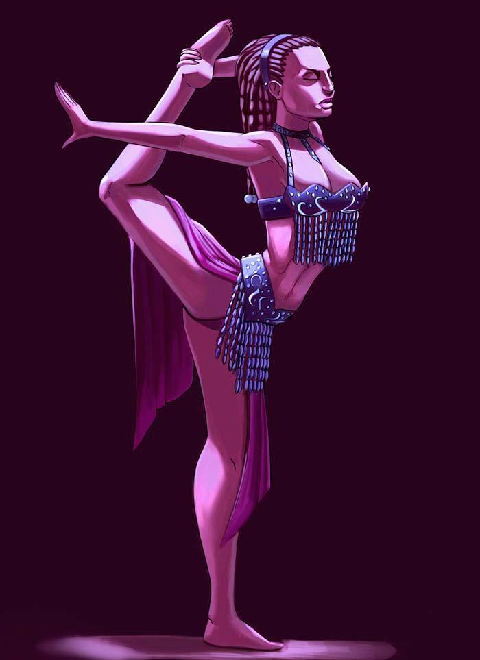 Ilustración, The dancer de Emmanuel Viñas