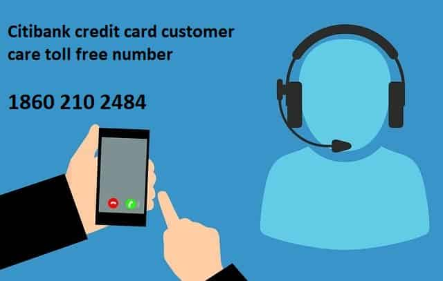Citibank Toll free credit card customer care number