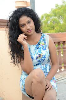 Actress Priyankha Stills in Floral Short Dress at Golmal Gullu Movie Pressmeet 0275.JPG